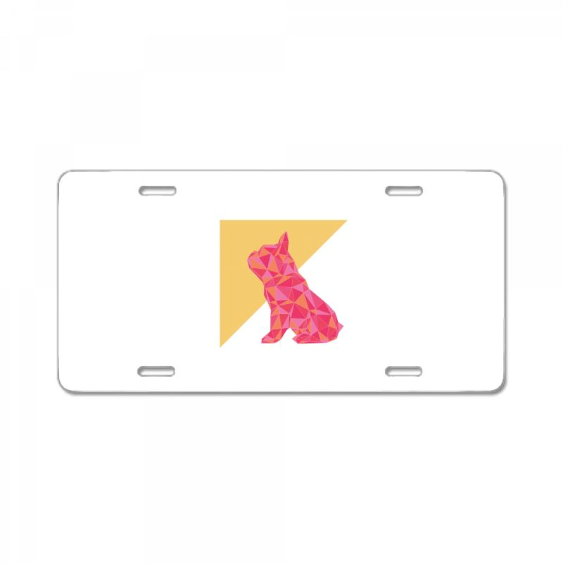 Geometric Doggy License Plate | Artistshot