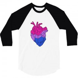 bisexual heart 3/4 Sleeve Shirt | Artistshot
