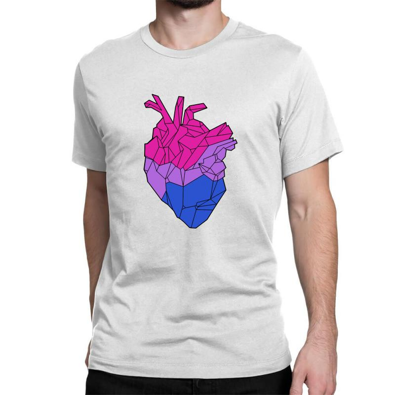 Bisexual Heart Classic T-shirt | Artistshot