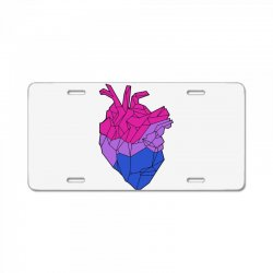 bisexual heart License Plate | Artistshot