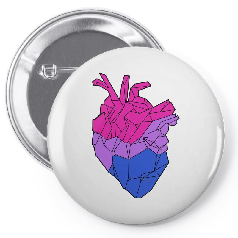 Bisexual Heart Pin-back Button | Artistshot