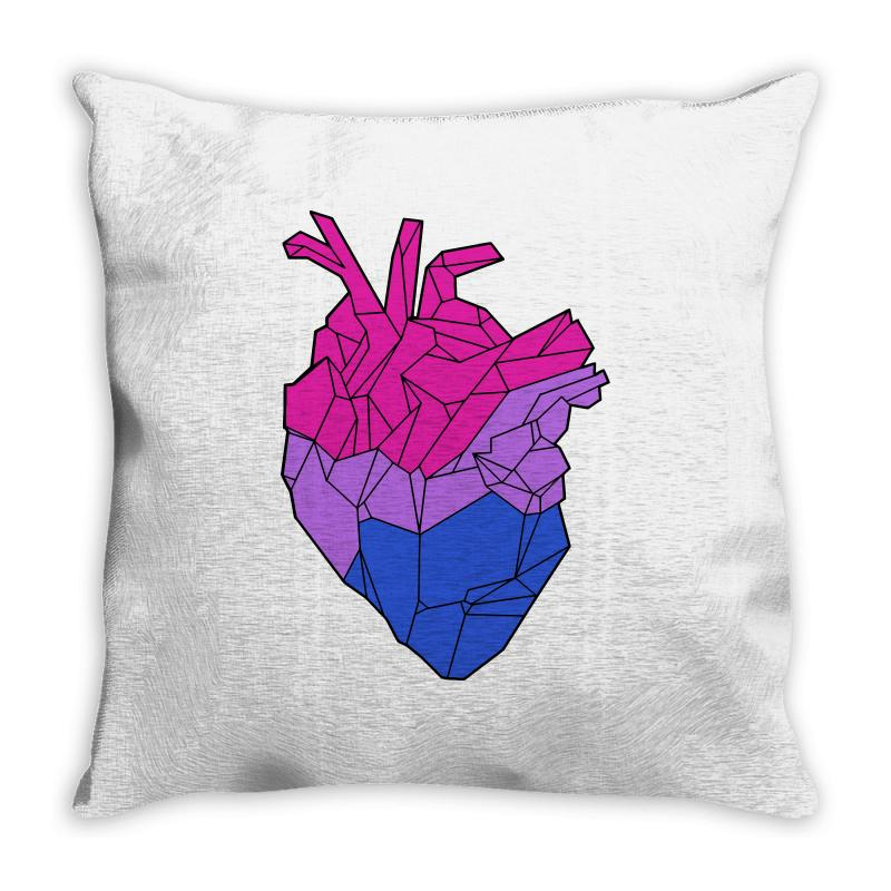 Bisexual Heart Throw Pillow | Artistshot