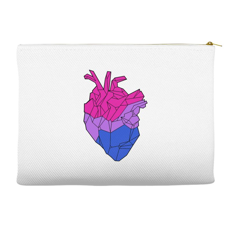 Bisexual Heart Accessory Pouches | Artistshot