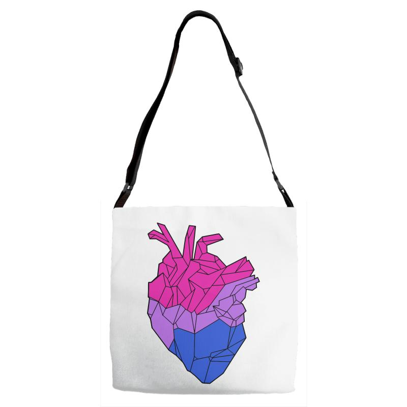 Bisexual Heart Adjustable Strap Totes | Artistshot