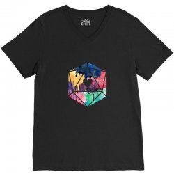 d20 watercolor V-Neck Tee | Artistshot