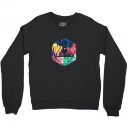d20 watercolor Crewneck Sweatshirt | Artistshot