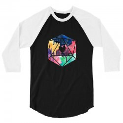 d20 watercolor 3/4 Sleeve Shirt | Artistshot