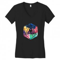 d20 watercolor Women's V-Neck T-Shirt | Artistshot