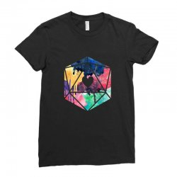 d20 watercolor Ladies Fitted T-Shirt | Artistshot