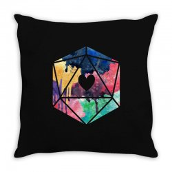d20 watercolor Throw Pillow | Artistshot
