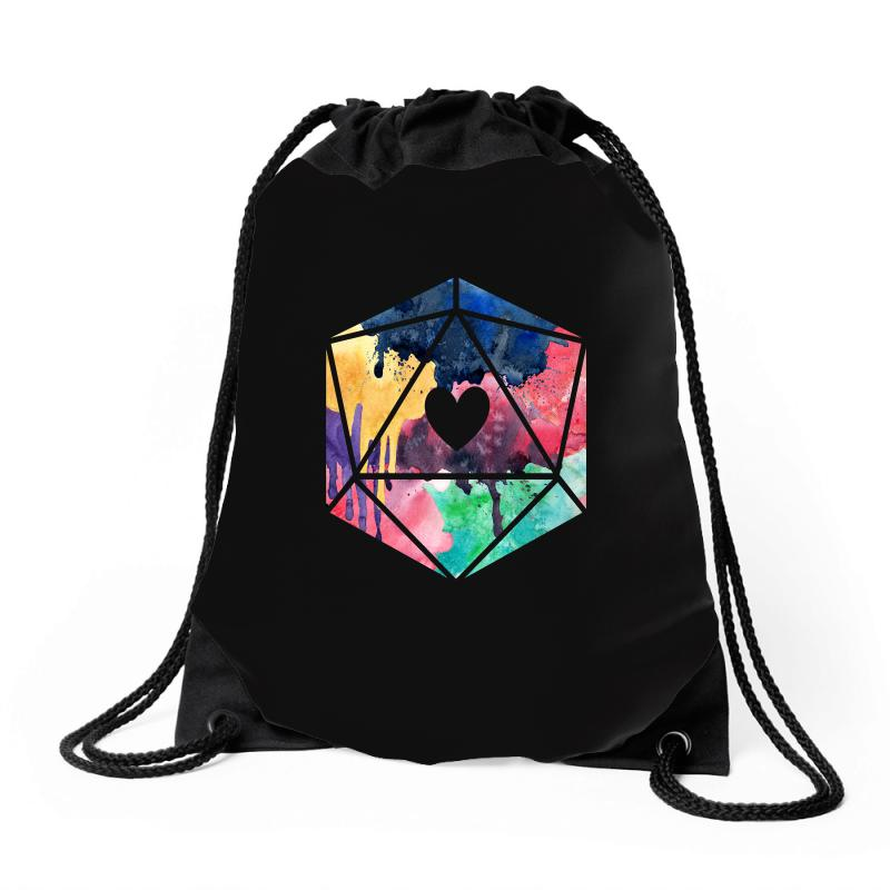 D20 Watercolor Drawstring Bags | Artistshot