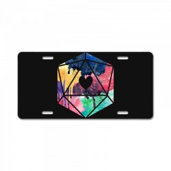 d20 watercolor License Plate | Artistshot