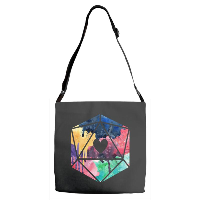 D20 Watercolor Adjustable Strap Totes | Artistshot