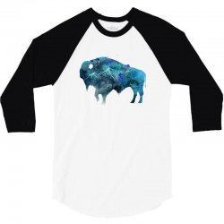 bison watercolor 3/4 Sleeve Shirt | Artistshot