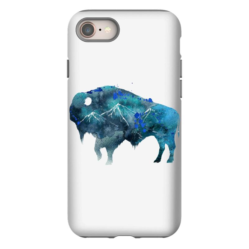 Bison Watercolor Iphone 8 Case | Artistshot