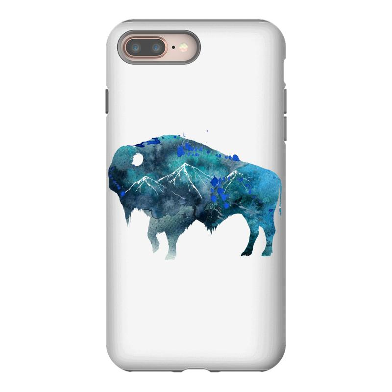 Bison Watercolor Iphone 8 Plus Case | Artistshot
