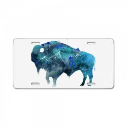 bison watercolor License Plate | Artistshot