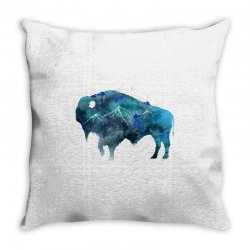 bison watercolor Throw Pillow | Artistshot