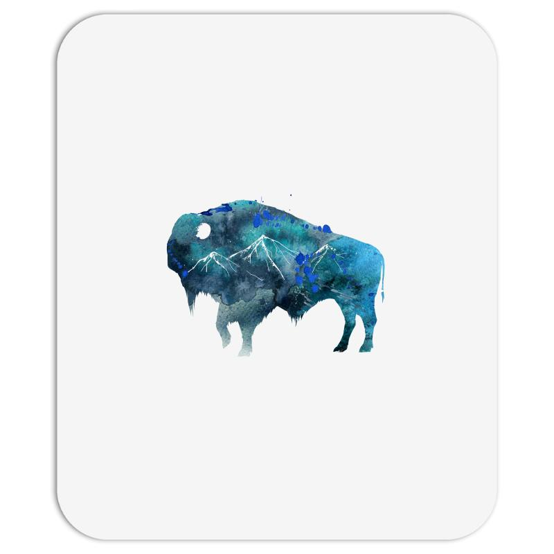 Bison Watercolor Mousepad | Artistshot