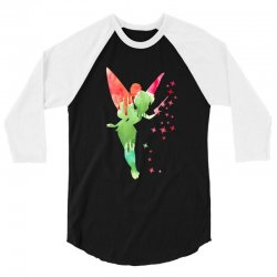 tinkerbell watercolor 3/4 Sleeve Shirt | Artistshot