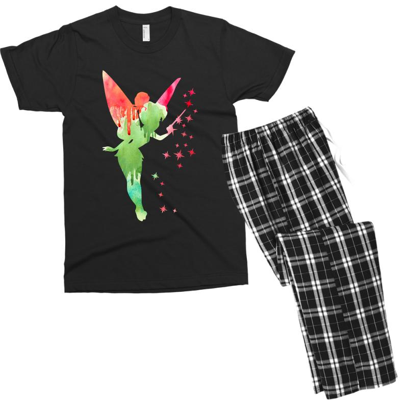 Tinkerbell Watercolor Men's T-shirt Pajama Set | Artistshot