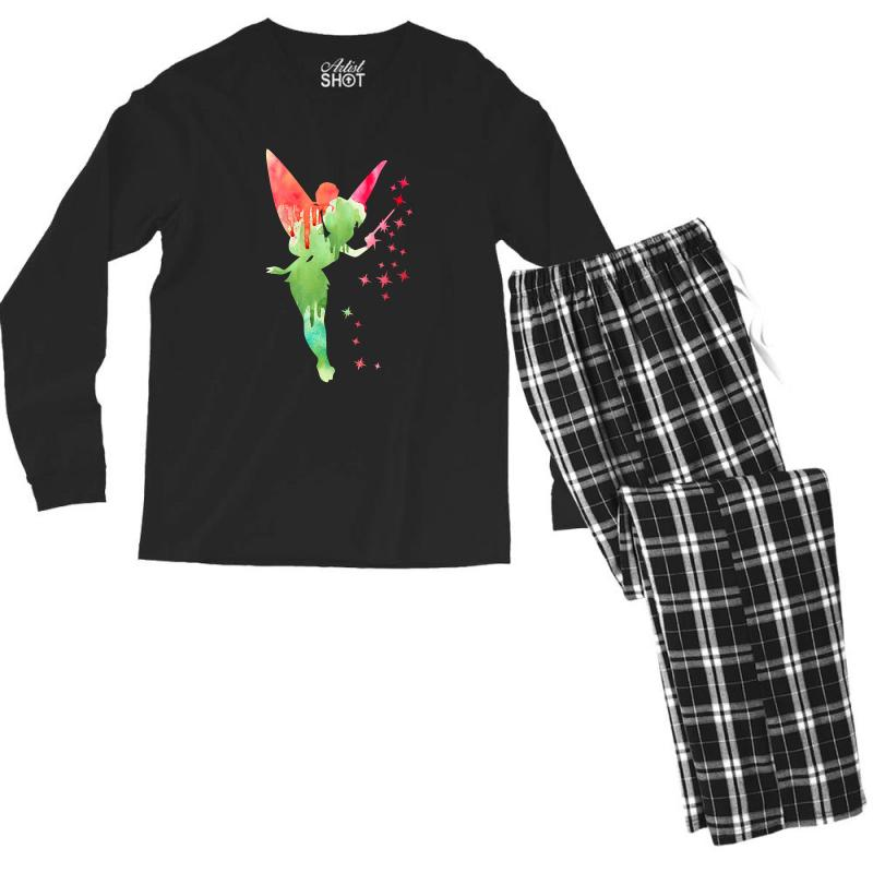 Tinkerbell Watercolor Men's Long Sleeve Pajama Set | Artistshot