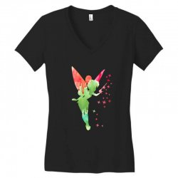 tinkerbell watercolor Women's V-Neck T-Shirt | Artistshot