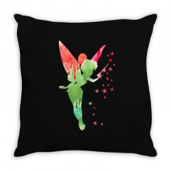 tinkerbell watercolor Throw Pillow | Artistshot