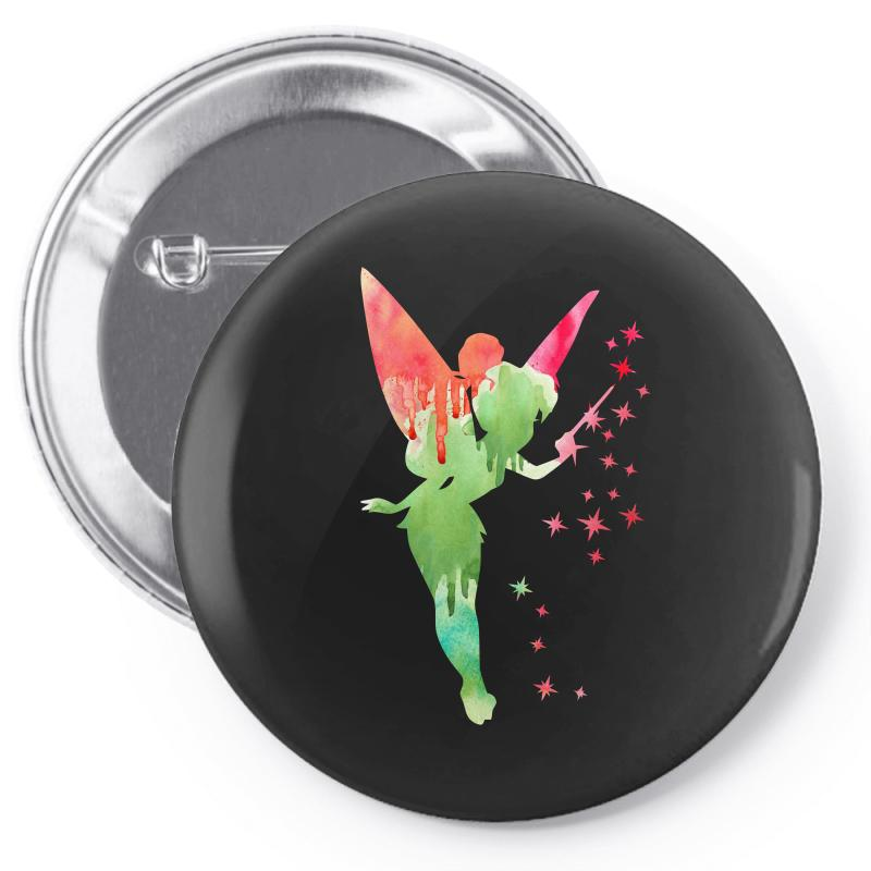 Tinkerbell Watercolor Pin-back Button | Artistshot