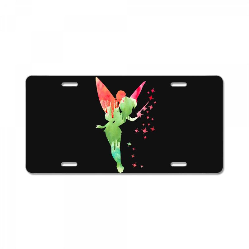 Tinkerbell Watercolor License Plate | Artistshot