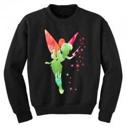tinkerbell watercolor Youth Sweatshirt | Artistshot