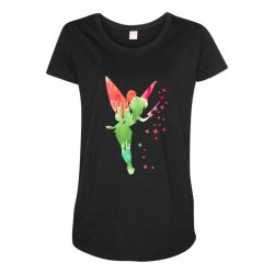 tinkerbell watercolor Maternity Scoop Neck T-shirt | Artistshot