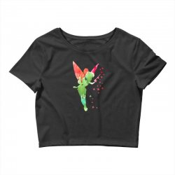 tinkerbell watercolor Crop Top | Artistshot