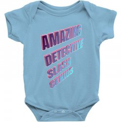 amazing detective slash genius for dark Baby Bodysuit | Artistshot