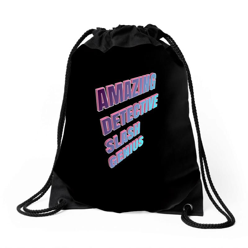 Amazing Detective Slash Genius For Dark Drawstring Bags | Artistshot