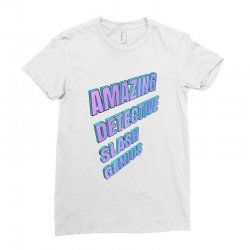 amazing detective slash genius for light Ladies Fitted T-Shirt | Artistshot