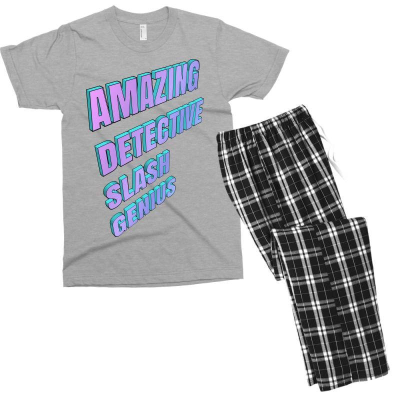 Amazing Detective Slash Genius For Light Men's T-shirt Pajama Set | Artistshot