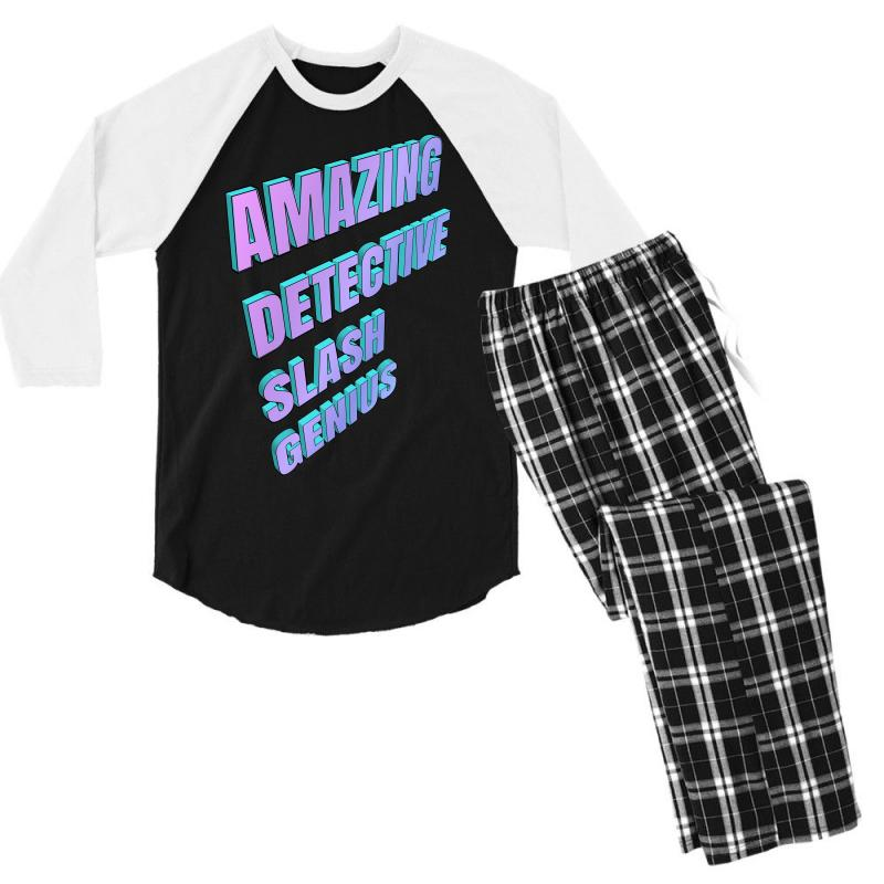 Amazing Detective Slash Genius For Light Men's 3/4 Sleeve Pajama Set | Artistshot