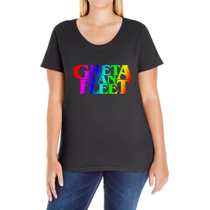 Greta Van Fleet Ladies Curvy T-shirt | Artistshot