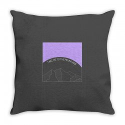 take me to the mountains for dark Throw Pillow | Artistshot