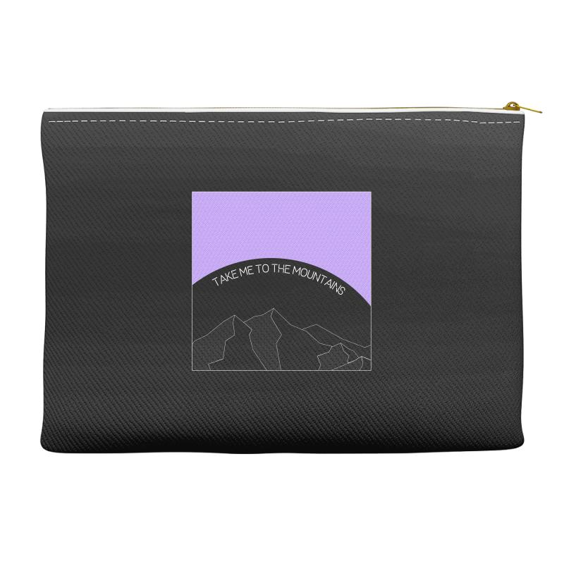 Take Me To The Mountains For Dark Accessory Pouches | Artistshot