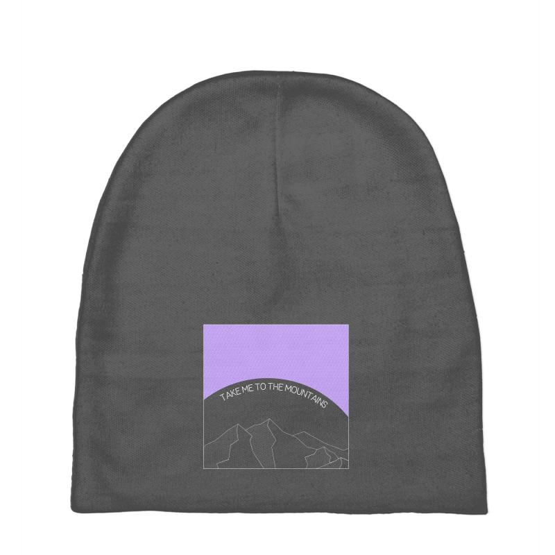 Take Me To The Mountains For Dark Baby Beanies | Artistshot