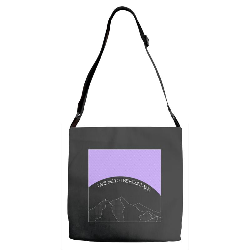 Take Me To The Mountains For Dark Adjustable Strap Totes | Artistshot