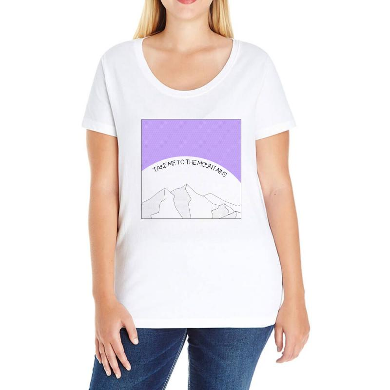 Take Me To The Mountains For Light Ladies Curvy T-shirt | Artistshot