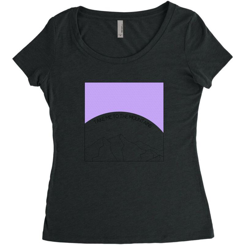 Take Me To The Mountains For Light Women's Triblend Scoop T-shirt | Artistshot