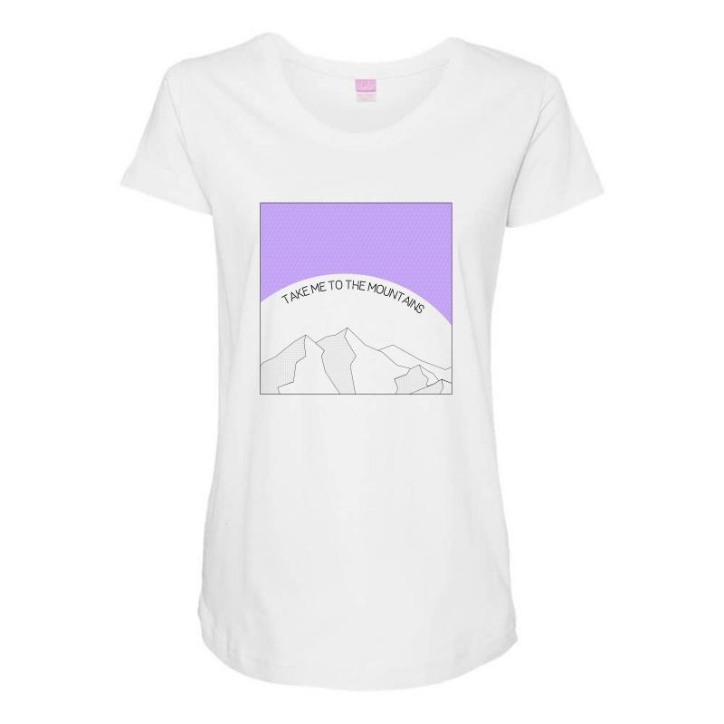 Take Me To The Mountains For Light Maternity Scoop Neck T-shirt | Artistshot