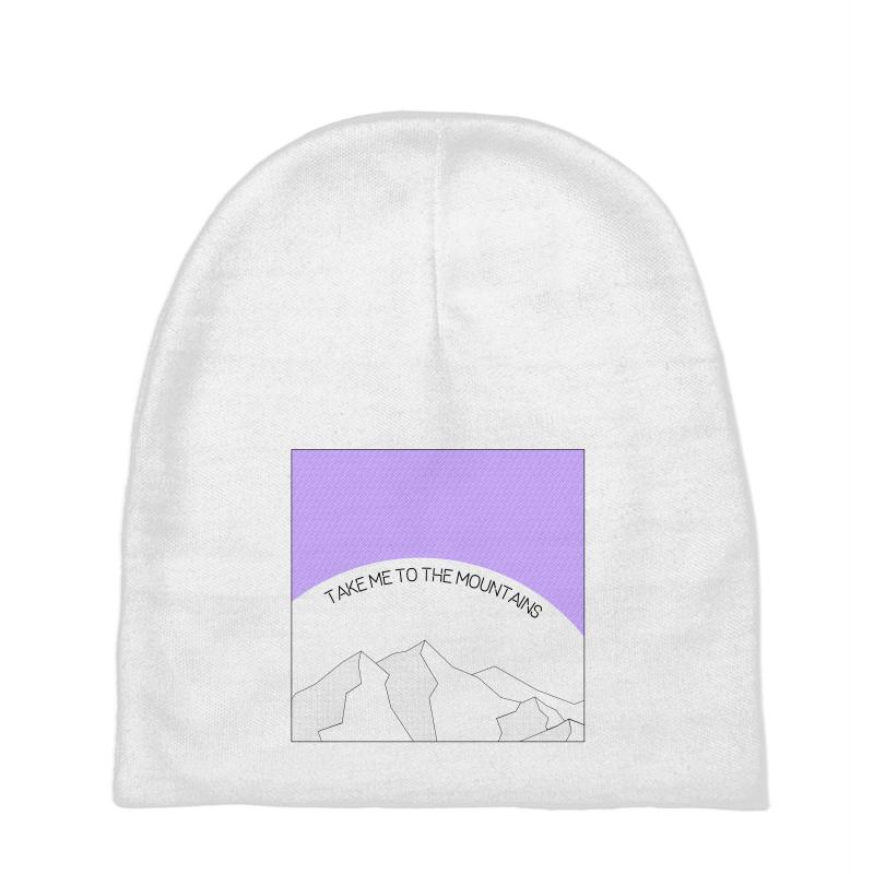 Take Me To The Mountains For Light Baby Beanies | Artistshot