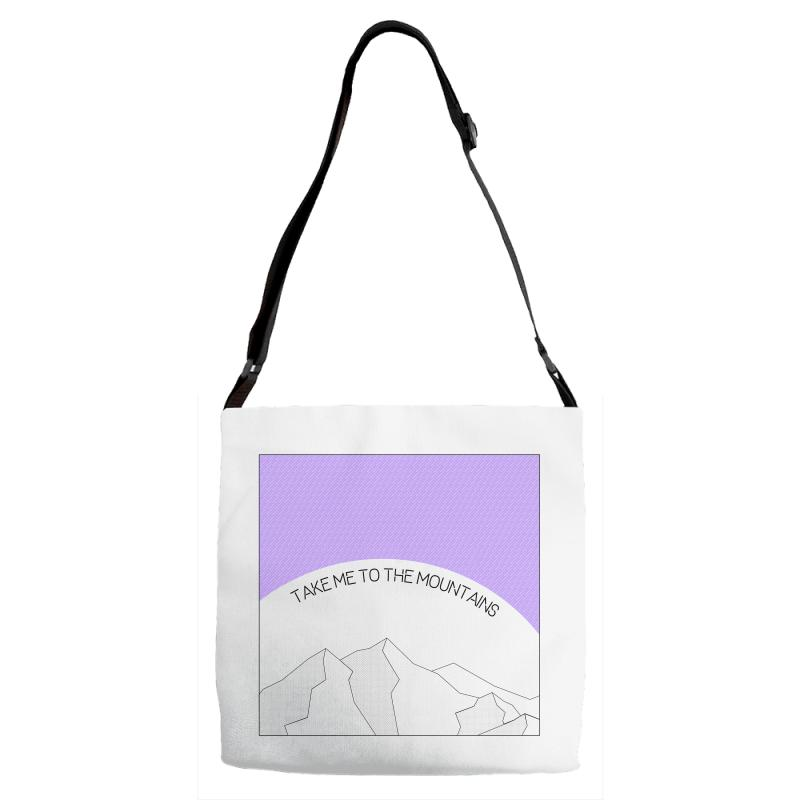 Take Me To The Mountains For Light Adjustable Strap Totes | Artistshot