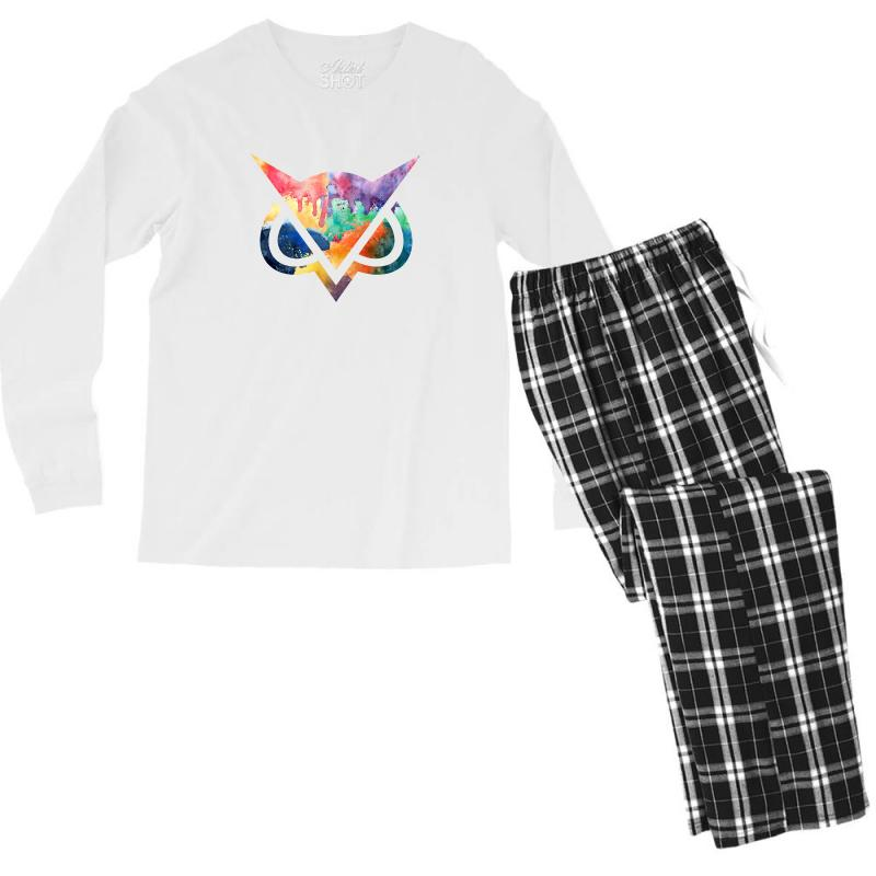 Vanoss Symbol Watercolor Men's Long Sleeve Pajama Set | Artistshot