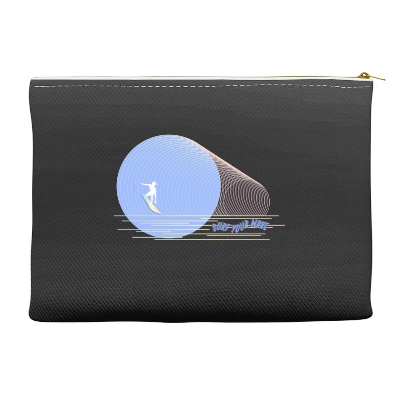 Surfing Boy Abstract Accessory Pouches   Artistshot